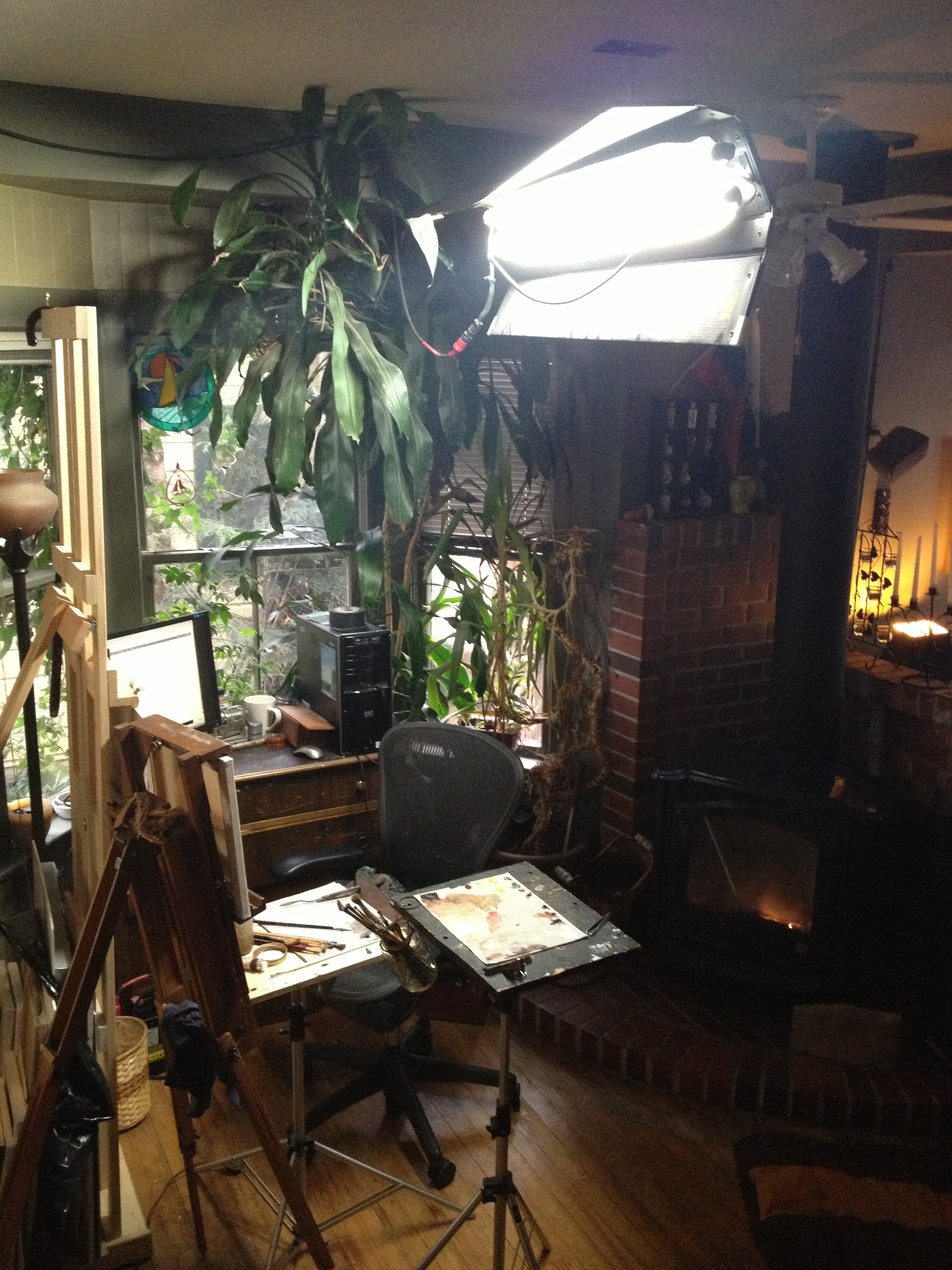 How to set up an oil painting studio oil painter 39 s studio - An artists home ...