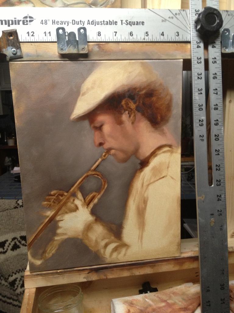 trumpeter underpainting