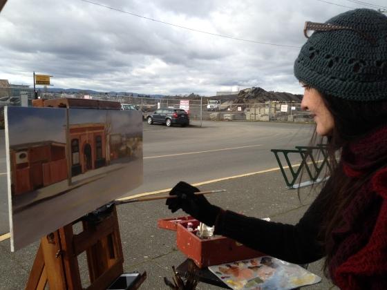 Me plein air painting